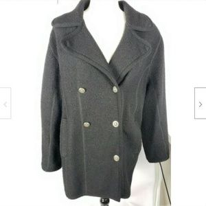 Bernardo Wool Peacoat Jacket Coat M Double-Breast